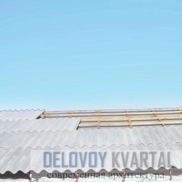 Покрытие крыши шифером