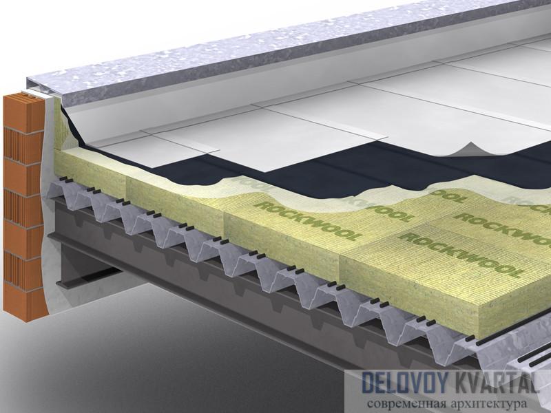 Как утеплить установленные ранее плоские крыши