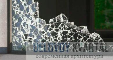 Разбитое безопасное стекло
