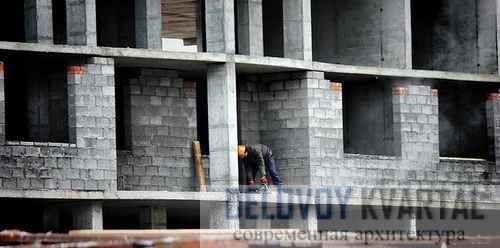 Возведение наружных стен здания