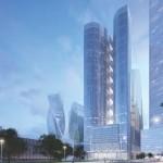 Началось строительство жилого небоскреба AFI TOWER