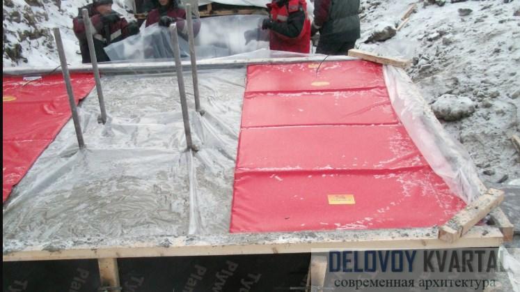 Подогрев бетона сс помощью электроматов